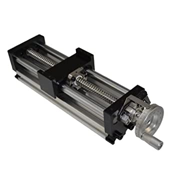 Linear Stage Actuator 200mm Manual Sliding Table Ballscrew 1605 Linear Guides...