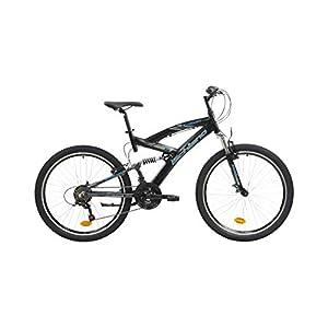 41EIlk LibL. SS300 F.Lli Schiano Energy, Bici Biammortizzata Uomo, Nero-Blu, 26''