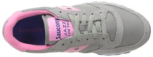 Saucony Originals Damen Jazz Low Pro Sneaker Grau / Pink