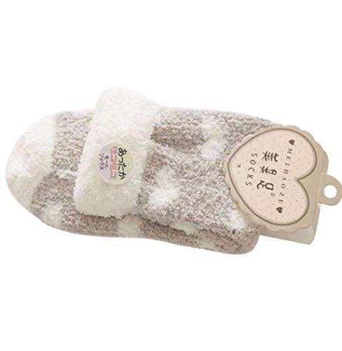 Sagton Vrouwen Warm Casual Comfort Koraal Kasjmier Winter Sokken Vloer Slipper Sokken Kaki