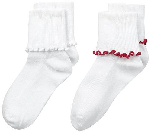 Jefferies Socks Big Girls Seamless Ripple Edge Socks  (2-Pack)