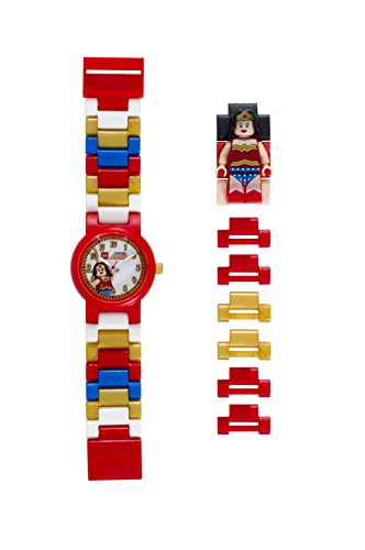 LEGO Watches and Clocks Girl's 'Dc Universe Wonder Woman' Quartz Plastic Casual watchMulti Color (Model: 8020271)