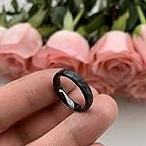 iTungsten 4mm Black Hammered Tungsten Rings for