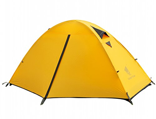 Geertop 1 Man Tent 3-4 Season 20D Lightweight For Backpacking Camping Hiking Travel - Easy Set Up