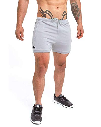 8cde91ae9f44 Shakestron Men's Fitted Shorts Bodybuilding Squat Gym Running Tight Fitted  Shorts Leg Days