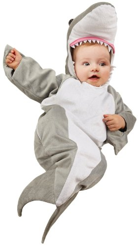 Underwraps Costumes Baby's Shark Bunting Costume, Grey/White, (Great White Shark Costumes)