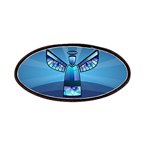 - Patch of Contemporary Abstract Stained Glass Angel