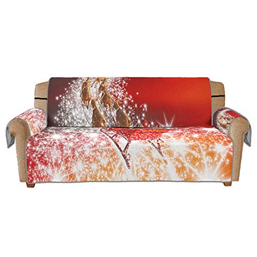 Bverionant Soft Sofa Slipcover Christmas Holiday Style Furniture Protector for Daily Use #2 S,1-seat (Furniture Holiday)