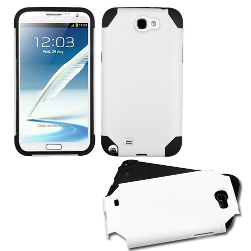 - MYBAT White/Black Frosted Fusion Protector Cover for SAMSUNG T889 (Galaxy Note II)
