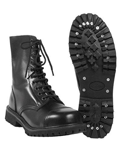Mil-Tec 10-Loch Gothic Schuhe Invader Schnürschuhe Gothicschuhe Gothic Schwarz 37-47