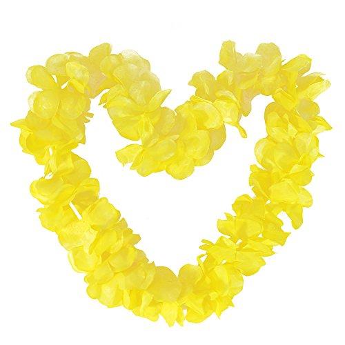 Tropical Hawaiian Luau Ruffled Simulated Silk Flower Leis Party Favor Pack of -