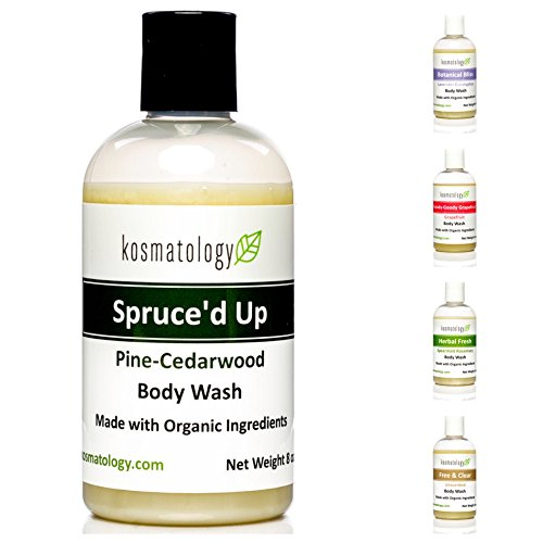 Kosmatology Spruce'd Up (Pine-Cedarwood-Cinnamon) Organic Men's Body Wash, 8 fl oz