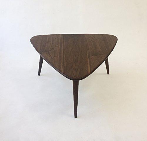 Walnut Guitar Pick Side Table – Mid-Century Modern – Atomic Era Design In Solid Walnut with Solid Walnut Tapered Legs 41EInoXPISL