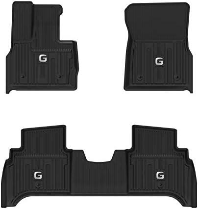 3W Floor Mats for Mercedes Benz G Class (2019-2021), TPE All Weather Custom Fit Floor Liner for Benz G Class,1st & 2nd Row Full Set TPE All-Weather Custom Fit Car Mats, Black