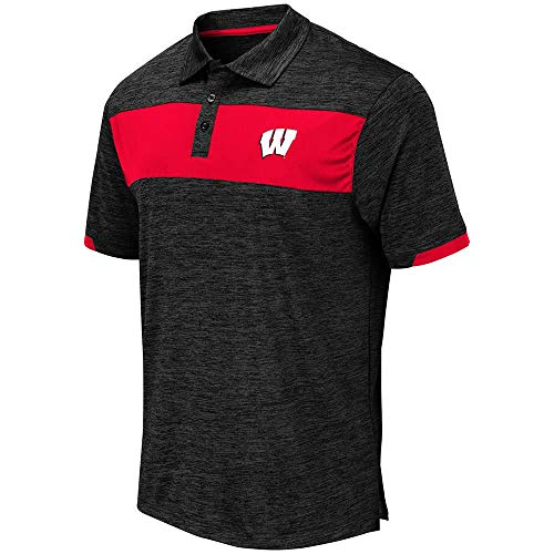 Mens Wisconsin Badgers Nelson Polo Shirt - L