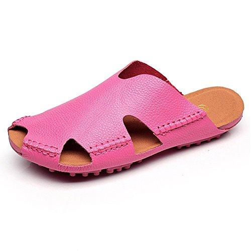 ZHANGRONG- Pantuflas Femeninas Pantuflas Blandas Sandalias de los Amantes Zapatos de Playa (Color : Negro, Tamaño : 39) Pink