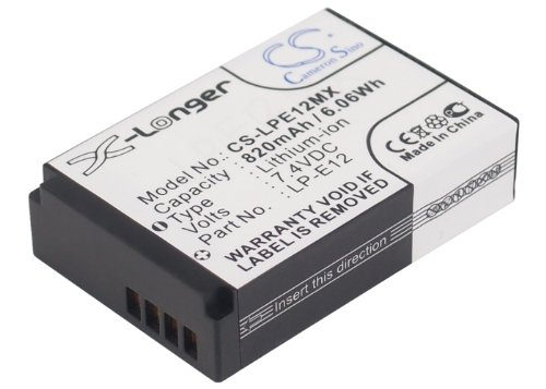 (VINTRONS 820mAh Replacement Battery for Canon LP-E12)