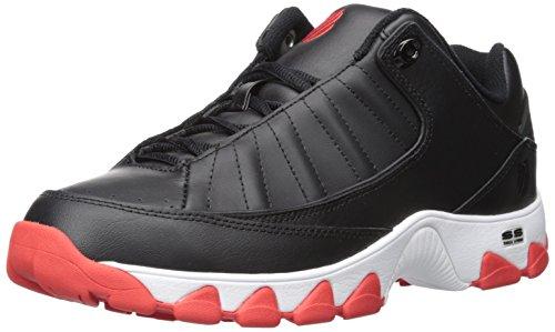 K-Swiss Men's ST529 Fashion Sneaker, Black/Fiery Red, 10 M US