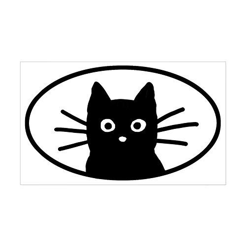 CafePress Black Cat Face Oval Sticker Rectangle Bumper Sticker Car Decal