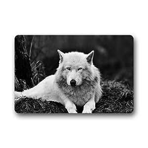 deepspe especial personalizado lobo interior al aire libre Floor Mat felpudo (23,6x 15,7)