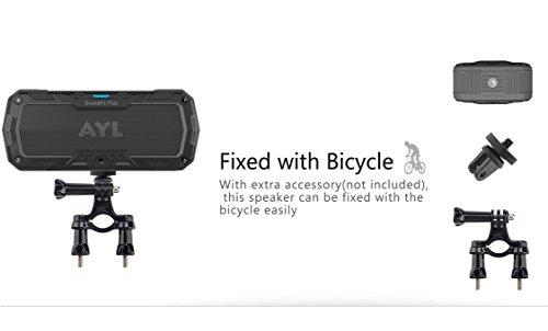 SoundFit Plus Water-Resistant Bluetooth Speaker - Portable Outdoor Wireless Sound System - Features Powerful Bass and Clear Treble - Hands-Free with Built-in Microphone - Dust and Shock Resistant by AYL (Image #7)