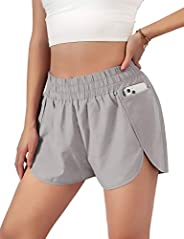 Blooming Jelly Women's Quick-Dry Running Shorts Workout Sport Layer Active Shorts with Pockets 1