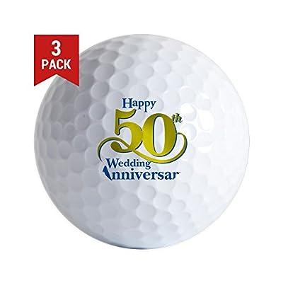 CafePress - 50Thanniversarylogo2 - Golf Balls (3-Pack), Unique Printed Golf Balls