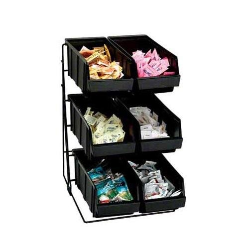 Dispense Rite WR-COND Black Wire Rack Condiment Organizer, 18 3/8 x 11 1/2 x 15