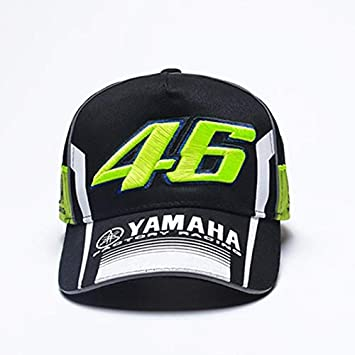 626ba9a7e34dd Yamaha Motorcycle Racing 46 Embroidery Sport Cotton Cap Hat (Dark Green)   Amazon.in  Sports
