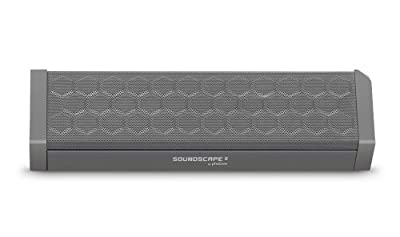 Photive SOUNDSCAPE 8 Portable Bluetooth Speaker with 8 Hour Battery and Built in Speakerphone- Black. 2014 New Release.