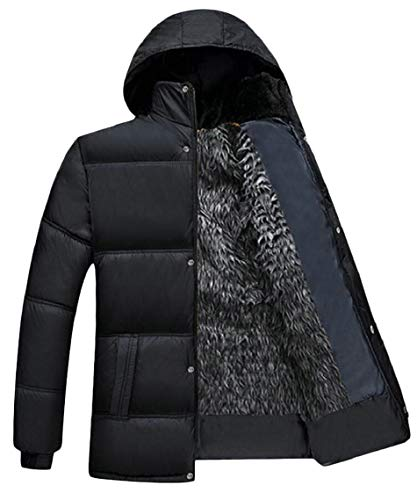 Padded Hooded Coat Cotton Gocgt Down Thickened 2 Lined Jacket Men's Casual Quilted g5YAqqvw