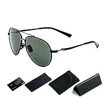 CHB Polarisierte Sonnenbrille Pilotenbrille Metallrahmen UV400 Schutz Männer mit Etui für alle Outdoor Aktivitäten