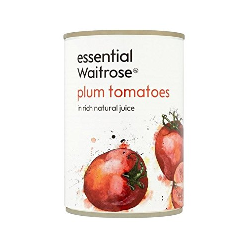 Italian Plum Tomatoes in Natural Juice essential Waitrose 400g - Pack of 6