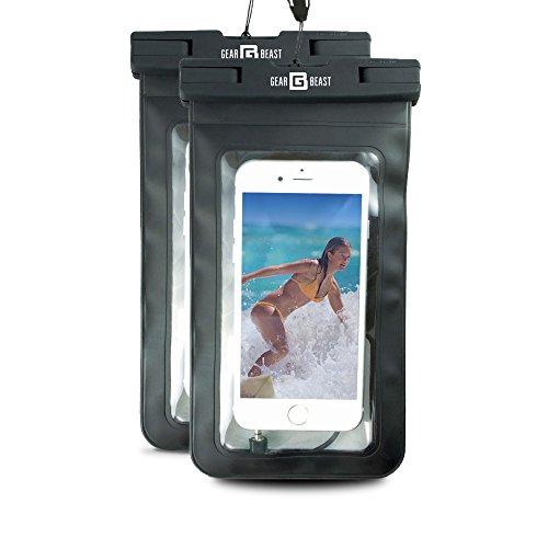 Gear Beast BDL-042 Waterproof Dry Bag Armband for Cell Phones, Black (Pack of 2) (Bdl Bag)