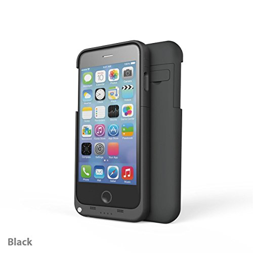 ASX iPhone 6 Powercase (Black) -  3200 mAh Ultra Slim Protective Battery Case - Charges With Your iPhone 6 Cable - Easy Access To All Ports - Doubles Battery Life