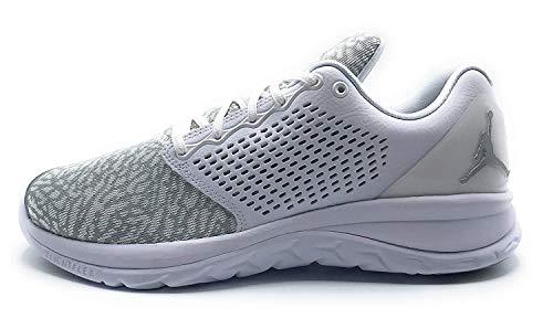 Nike Jordan Mens Jordan Trainer St Basketball Shoes (10 D(M) US, White/Mtlc Silver Blanc/Argent) ()