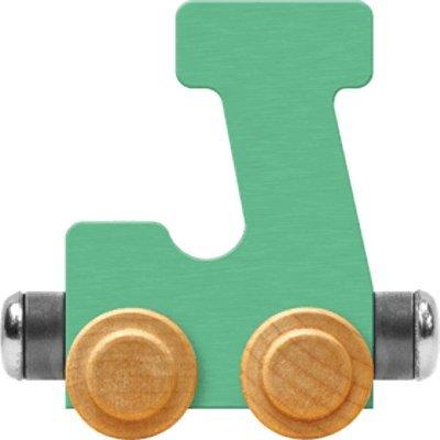 Maple Landmark NameTrain Pastel Letter Car J - Made in USA (Green): Toys & Games