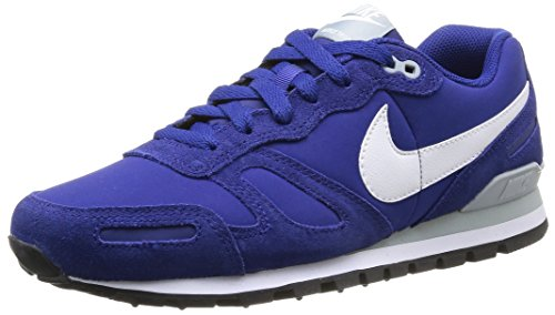 Nike Mens AIR WAFFLE TRAINER LEATHER DEEP ROYAL BLUE/SILVER WING/BLACK/WHITE 454395-401 13