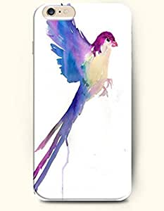 SevenArc Hard Phone Case for Apple iphone 5 5s ( iphone 5 5s + )( inches) - Purple Flying Bird - Oil Painting