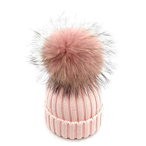 SINXE Hot Real Mink Fur Pompom Hat Women Winter Beanies Skullies Bonnet Caps Female Hats Cute Gorro Cap