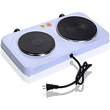 Giantex Electric Double Burner Hot Plate Portable Stove Heater Countertop  Cooking