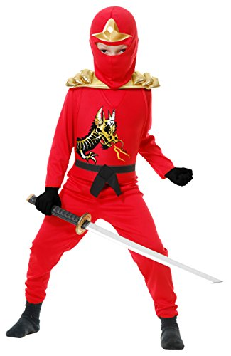 Ninja Avenger II with Armor, Red, Child XL