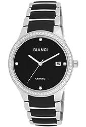 Roberto Bianci Women's Bella Ceramic Watch with Zirconia Studded Bezel-B294BLK-Black