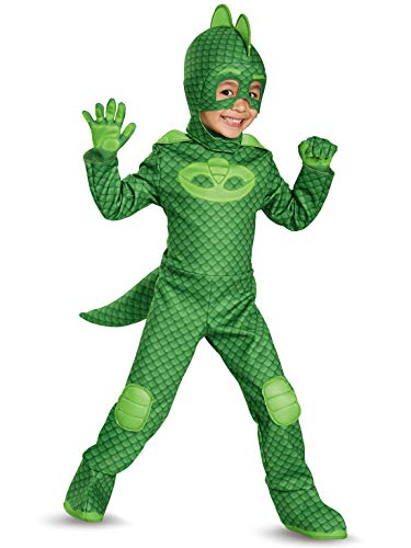 Gekko Deluxe Toddler PJ Masks Costume, Medium/3T-4T]()