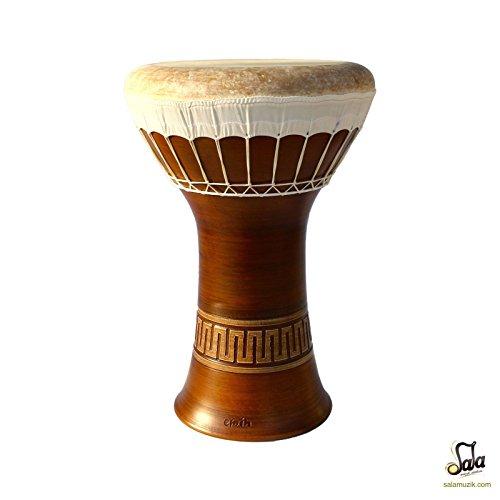 Professional Clay Ceramic Medium Bass Darbuka Drum By Emin Percussion Doumbek by Sala Muzik