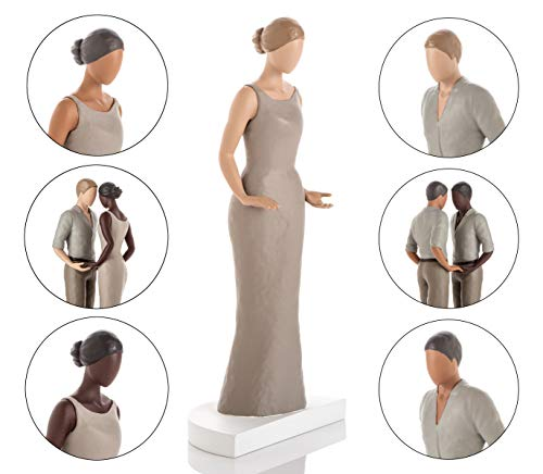 Wedding Cake Topper Figurines. Mix & Match in ANY Combination and Choose from our Rustic Range of Beautiful Brides and Grooms. Also Perfect for Engagement & Anniversary Cakes. Light Skin - People Cake Wedding Topper Black