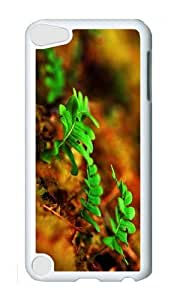 Ipod 5 Case,MOKSHOP Cute fern plants Hard Case Protective Shell Cell Phone Cover For Ipod 5 - PC White