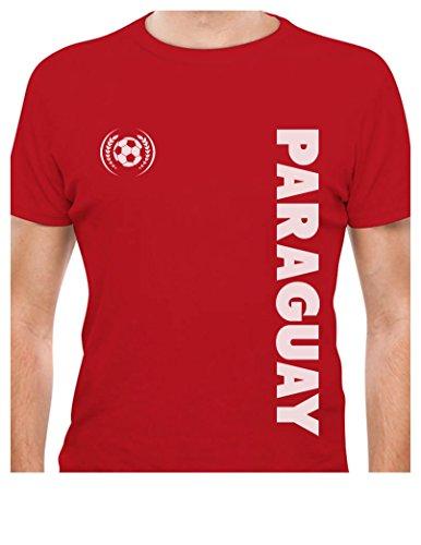 TeeStars - Paraguay National Soccer Team Football Fans T-Shirt XXXXX-Large Red ()