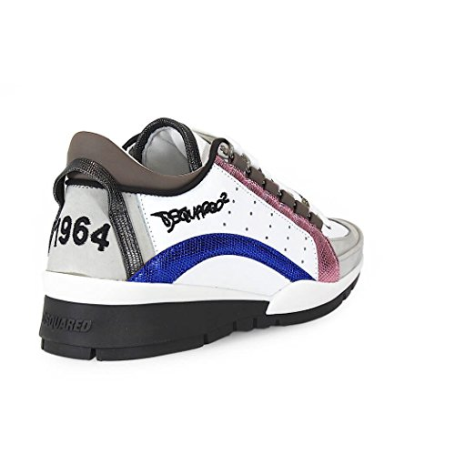 DSQUARED2 551 PINK BLUE SNEAKERS