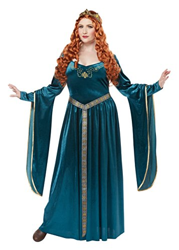 California Costumes Women's Size Lady Guinevereadult Plus-Teal,